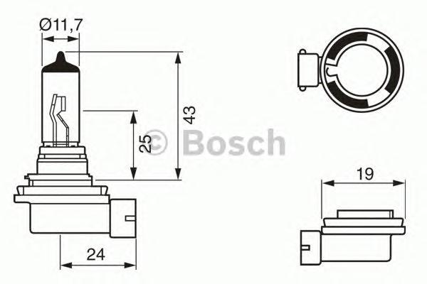 Лампа фары H11 55 W Pure Light - Standard BOSCH
